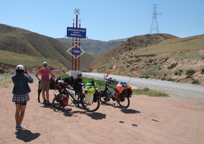 Our first real pass at 2,200m right before Kochkor