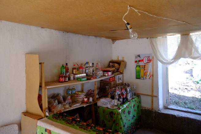 The enormous assortment of a typical village shop