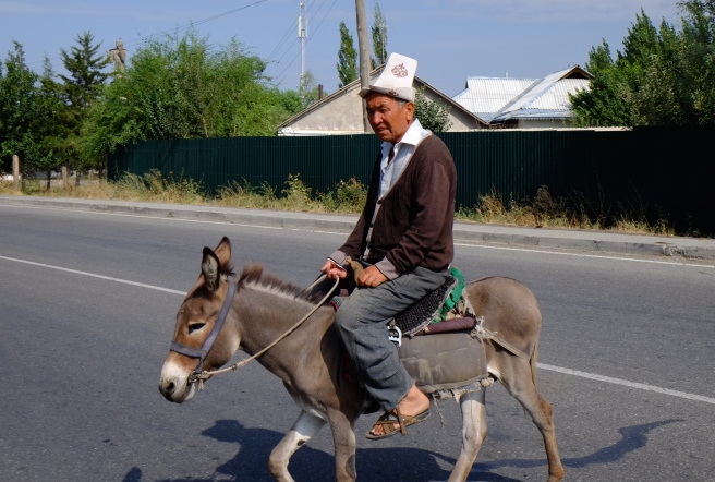 Typical Kyrgyz outfit