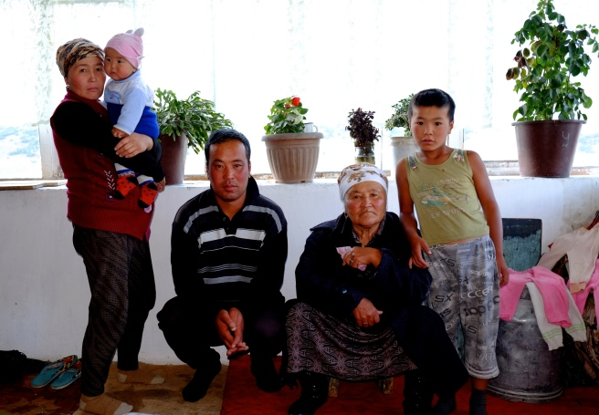 The Kyrgyz family we stayed with