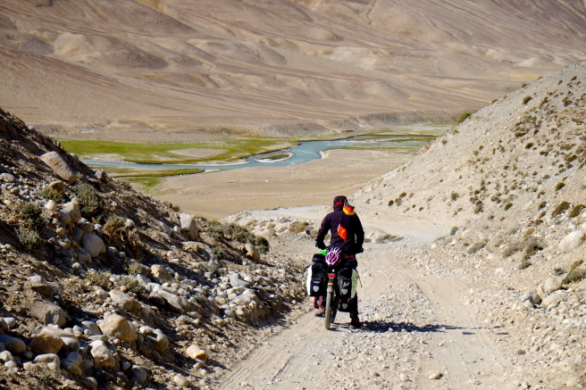 Tough cycling on rough roads