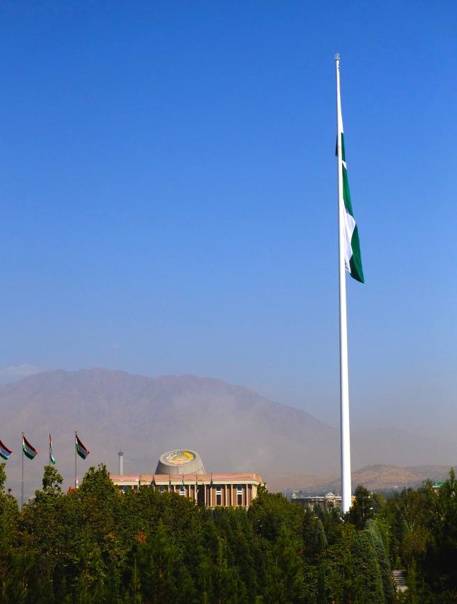 Once Asia's largest flagpole, the flag alone measures 2000 square meters!