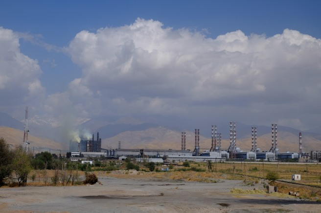Aluminium production - we are now part of an espionage plot, as the Uzbek customs officer asked us for a copy of this photo