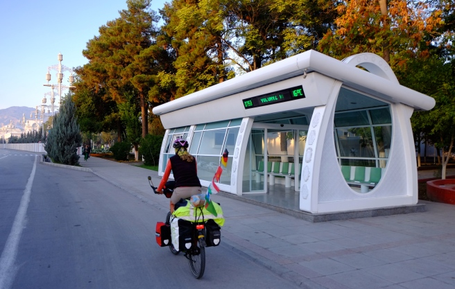 An airconditioned bus stop