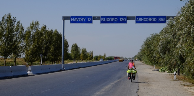 Johan was getting concerned about being on the wrong road as he couldn't find Buxoro (which is Bukhara) on his map!