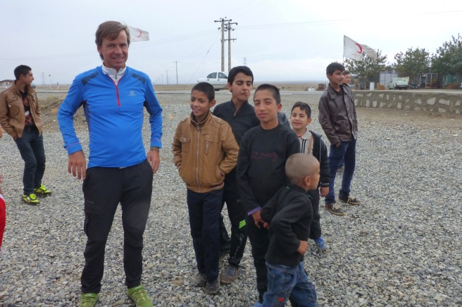 Johan was welcomed by the local youngsters like a football star