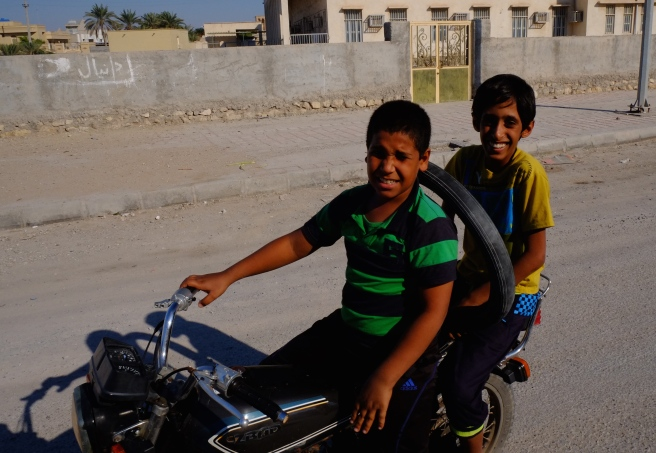 Even the youngest ride a motorbike