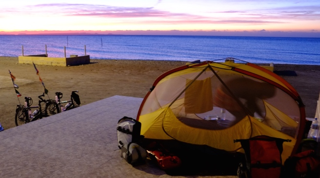 Last time camping in Iran at the beach
