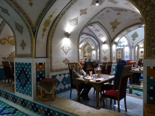 At a fancy restaurant - a former hamam, food was just average though!
