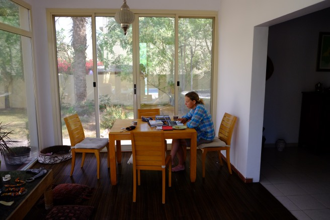 Working with a garden view