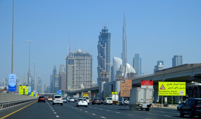 Vista of the Burj Khalifa and all the construction still going on
