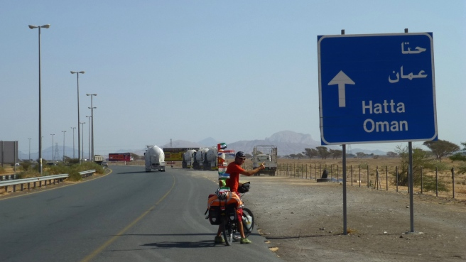 The idea was to cycle via Hatta to Oman, but we were refused at the border without explanation. Later we learned that they had arrested 6 terrorists a few months ago exactly at this border crossing and closed the border for all non-emiratis
