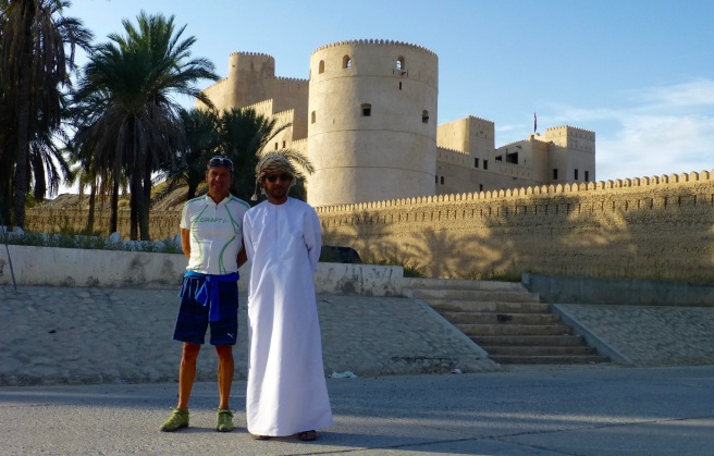 With Salim in front of the closed Al Rustaq fort