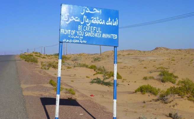 I think they meant moving sand dunes :-)