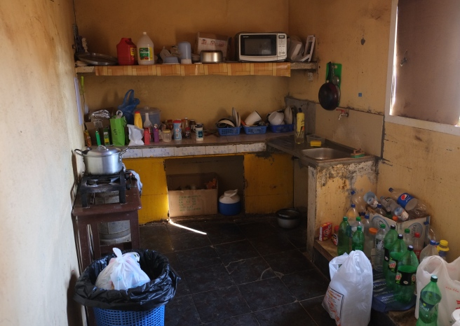 The shared kitchen at our host's house - we had a room at his old house where his staff lives