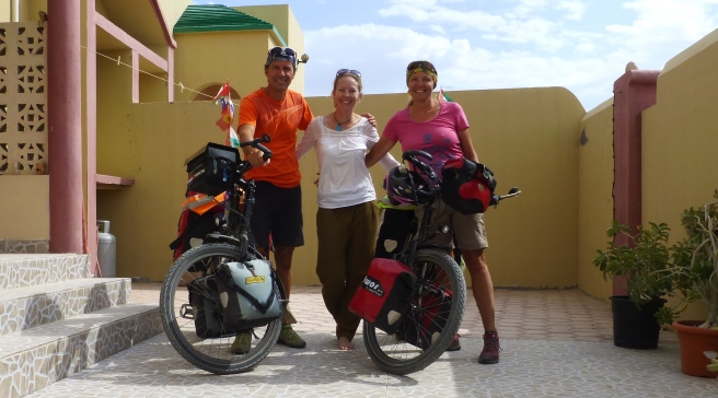 With our wonderful Warm Showers host Catherine in Ibri